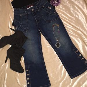 Baby Phat Jean Ankle Cute Buttons